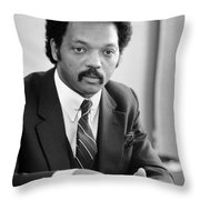 Jesse Jackson (1941- ) Throw Pillow by Granger