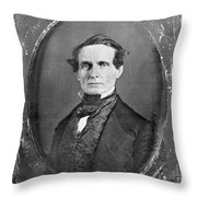 JEFFERSON DAVIS Throw Pillow by Granger