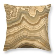 Agate Throw Pillow by Ted Kinsman