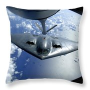 A B-2 Spirit Moves Into Position Throw Pillow by Stocktrek Images