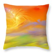 A Band Of Angels Coming After Me Throw Pillow by David Lane