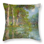 A Bend In The Eure Throw Pillow by Gustave Loiseau