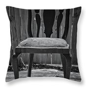 A Chair in Despair Throw Pillow by DigiArt Diaries by Vicky B Fuller