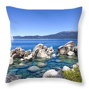 A Day At The Lake Throw Pillow by Janet Fikar