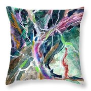 A Dying Tree Throw Pillow by Mindy Newman