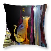 A Friend In The Dark Throw Pillow by Miki De Goodaboom