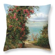 A Garden By The Sea  Throw Pillow by Frank Topham