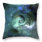 A Gorgeous Nebula In Outer Space Throw Pillow by Corey Ford
