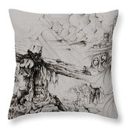 A Man Of Sorrows Throw Pillow by Rachel Christine Nowicki