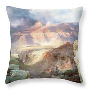 A Miracle Of Nature Throw Pillow by Thomas Moran