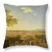 A Panoramic View Of Florence From Bellosguardo Throw Pillow by Thomas Patch