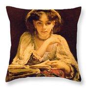 A Pensive Moment Throw Pillow by John Ballantyne