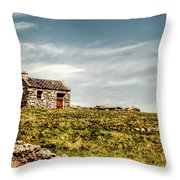 A Shack On The Aran Islands Throw Pillow by Natasha Bishop