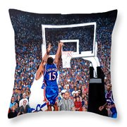 A Shot To Remember - 2008 National Champions Throw Pillow by Tom Roderick