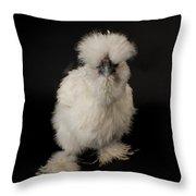 A Silkie Bantam Chicken Gallus Throw Pillow by Joel Sartore