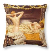 A Summer Night Throw Pillow by Albert Joseph Moore