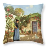 A Sunny Morning Throw Pillow by Childe Hassam