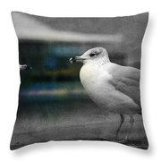 A Touch Of Blue Throw Pillow by Susanne Van Hulst