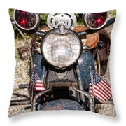 A Very Old Indian Harley-davidson Throw Pillow by James BO  Insogna