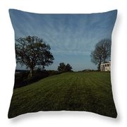 A View Of Mount Vernon, The Home Throw Pillow by Medford Taylor