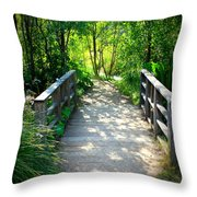 A Walk in the Park Throw Pillow by Carol Groenen