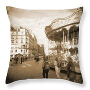 A Walk Through Paris 4 Throw Pillow by Mike McGlothlen