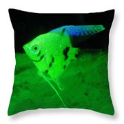 A Yellow Fish  Throw Pillow by Jeff Swan