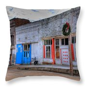 Abandoned Main Street Throw Pillow by Douglas Barnett