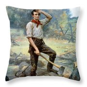 Abe Lincoln The Rail Splitter  Throw Pillow by War Is Hell Store