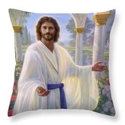 Abide With Me Throw Pillow by Greg Olsen
