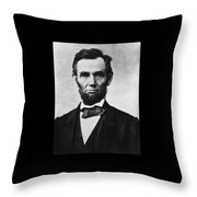 Abraham Lincoln Throw Pillow by War Is Hell Store