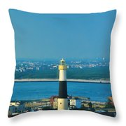 Absecon Lighthouse Atlantic City Throw Pillow by Bill Cannon
