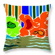 Abstract 229 Throw Pillow by Patrick J Murphy