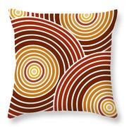 Abstract Circles Throw Pillow by Frank Tschakert