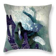 Abstract Construction Throw Pillow by Sarah Loft