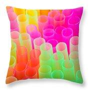 abstract drinking straws Throw Pillow by Meirion Matthias