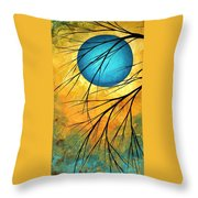 Abstract Landscape Art Passing Beauty 1 Of 5 Throw Pillow by Megan Duncanson