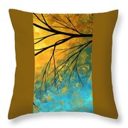 Abstract Landscape Art Passing Beauty 2 Of 5 Throw Pillow by Megan Duncanson