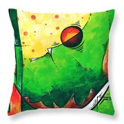 Abstract Pop Art Original Painting Throw Pillow by Megan Duncanson