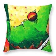 Abstract Pop Art Original Painting Throw Pillow by Megan Duncanson