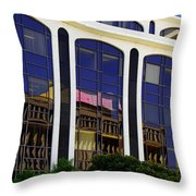 Abstract Reflections in Glass Tucson Arizona Throw Pillow by Christine Till