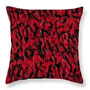 Abuse Throw Pillow by Roseanne Jones