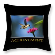 Achievement  Inspirational Motivational Poster Art Throw Pillow by Christina Rollo