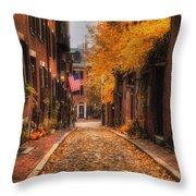 Acorn St. Throw Pillow by Joann Vitali