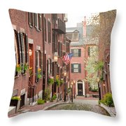 Acorn Street Throw Pillow by Susan Cole Kelly