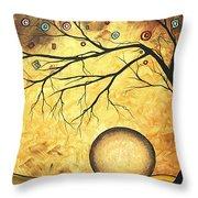 Across The Golden River By Madart Throw Pillow by Megan Duncanson