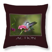 Action Inspirational Motivational Poster Art Throw Pillow by Christina Rollo