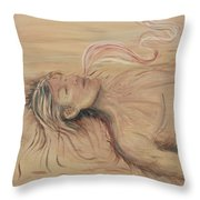 Adam And The Breath Of God Throw Pillow by Nadine Rippelmeyer