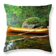 Adirondack Guideboat Throw Pillow by Frank Houck