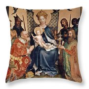 Adoration Of The Magi Altarpiece Throw Pillow by Stephan Lochner